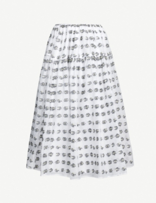 CECILIE BAHNSEN Peony woven wrap skirt