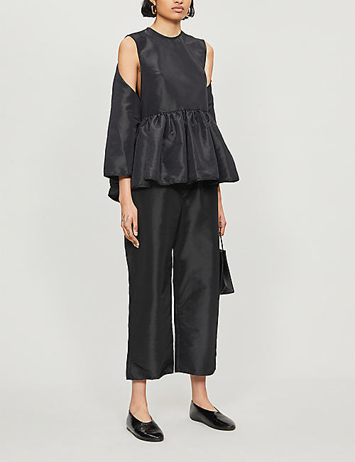 CECILIE BAHNSEN Sleeveless flared-hem crepe top