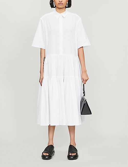 CECILIE BAHNSEN Collared cotton dress