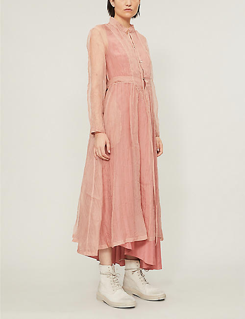 RENLI SU Crinkled A-line silk midi dress