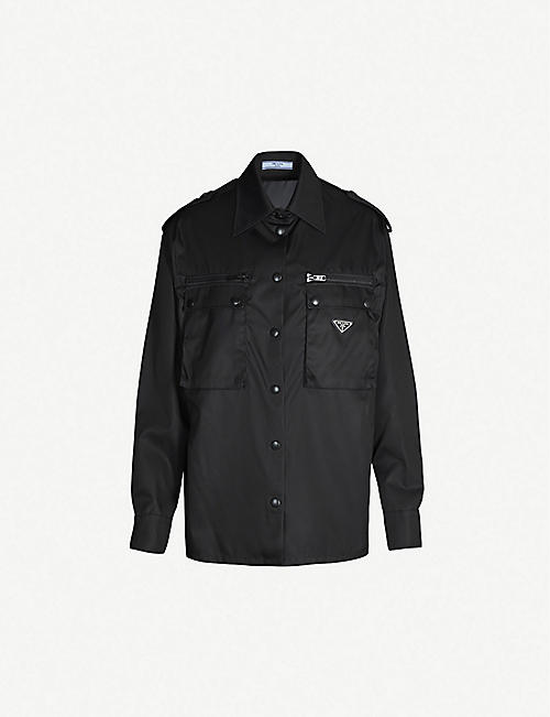 PRADA Logo-plaque nylon jacket