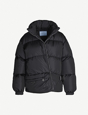 PRADA Bum bag shell-down puffer coat