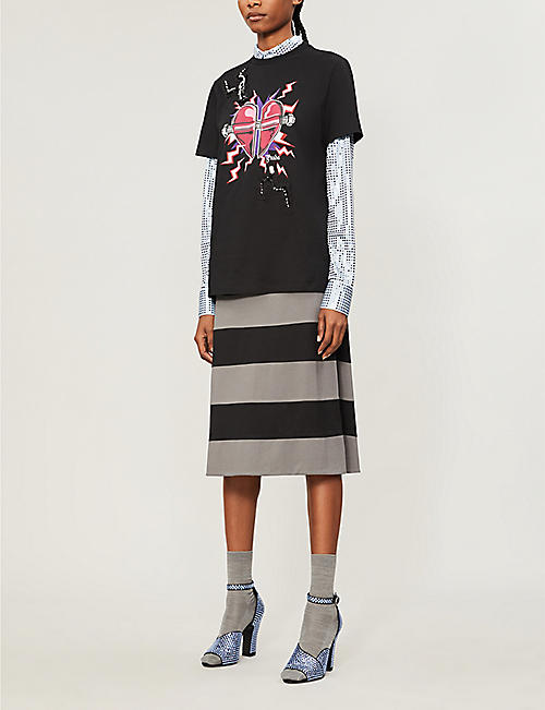 PRADA Frankenstein graphic-print cotton-jersey T-shirt