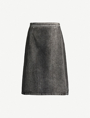 PRADA Gonna high-waist denim skirt