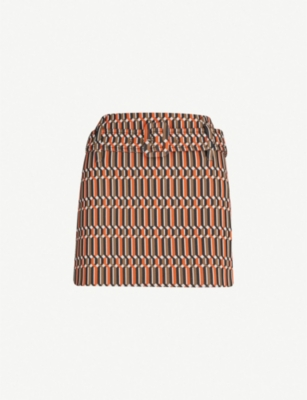 PRADA Geometric-patterned jacquard skirt