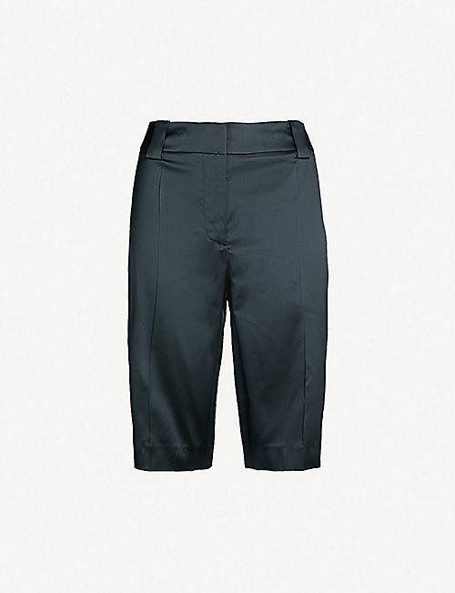 da857b563fe2 PRADA Cropped high-rise silk-satin trousers