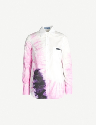 PRADA Tie-dye cotton shirt