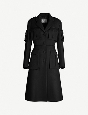 PRADA Patch-pocket wool coat
