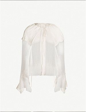 PHAEDO Sheer wool and silk blend shirt