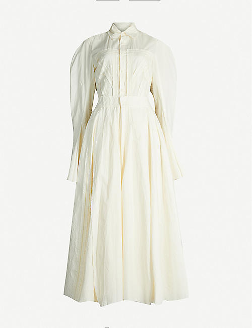PHAEDO Flared cotton maxi dress