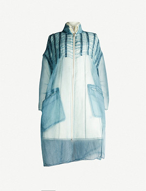 PHAEDO Layered silk-blend and shell-down coat