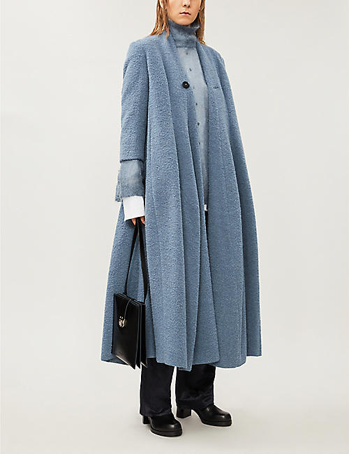 PHAEDO Oversized wool-blend coat