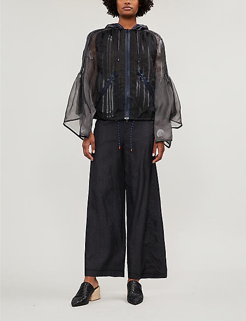 QUETSCHE Layered tulle and silk-organza parka jacket