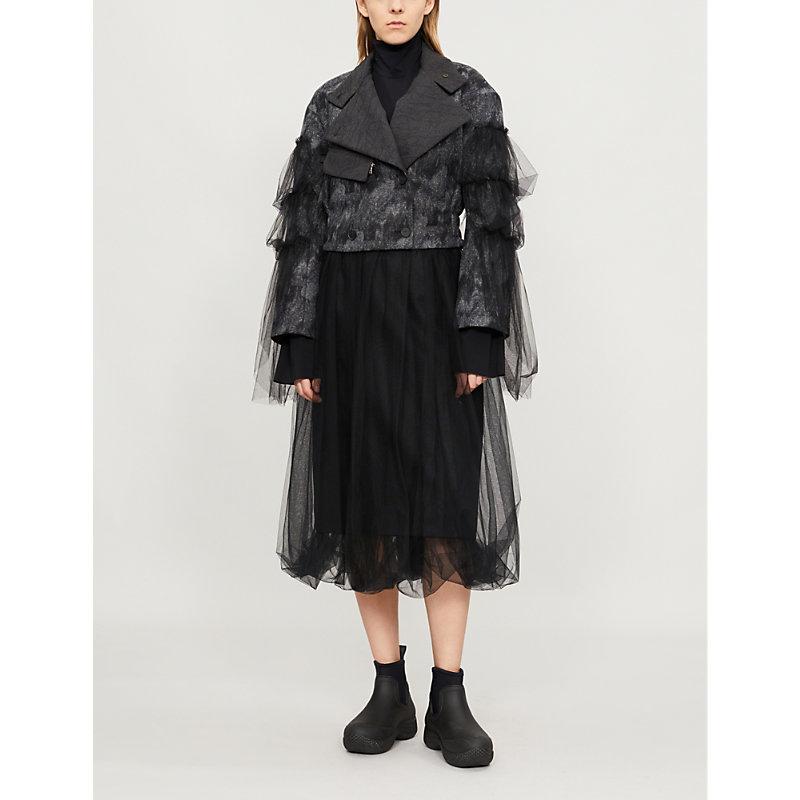 QUETSCHE 薄纱-套 羊毛-混合 夹克 in Black