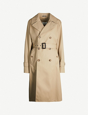 MAISON MARGIELA Double-breasted cotton-blend trench coat