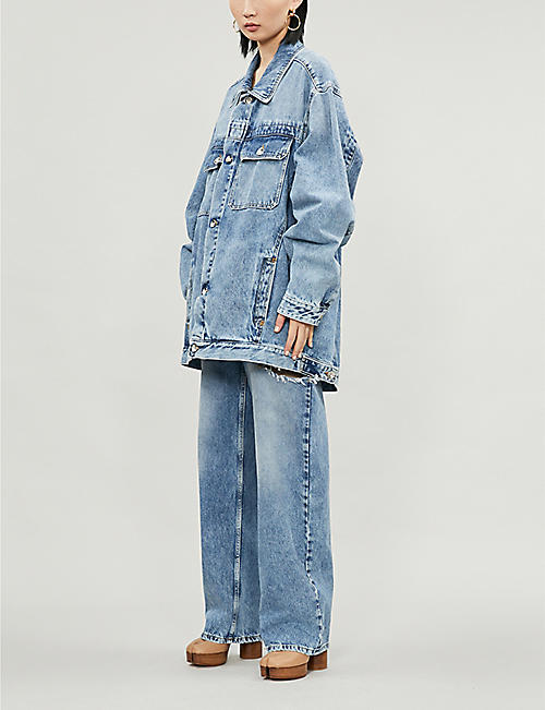 MAISON MARGIELA Oversized faded ripped denim jacket