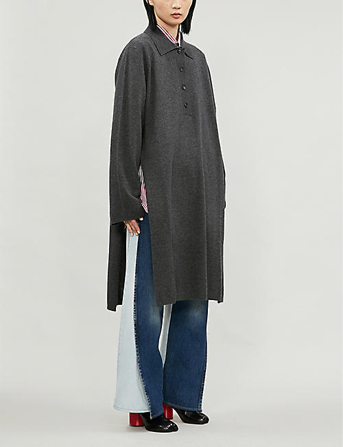MAISON MARGIELA Oversized split-side wool and cashmere-blend jumper