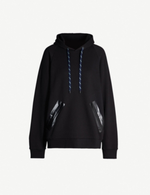 MAISON MARGIELA Tape-detail cotton-jersey hoody