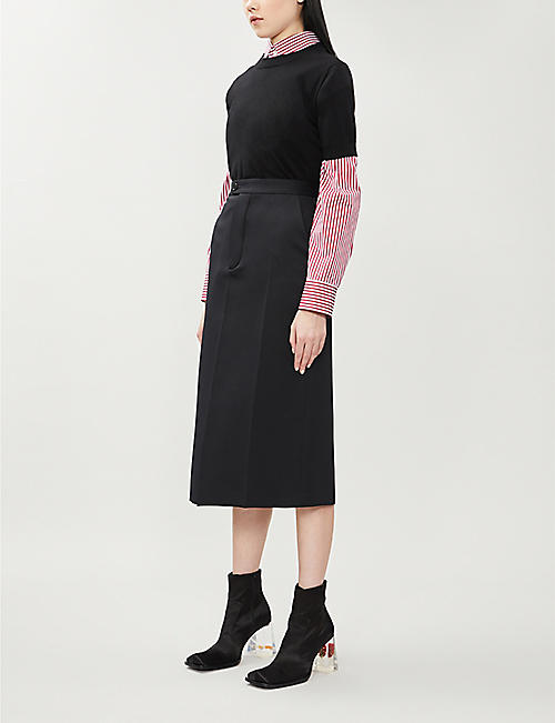 MAISON MARGIELA High-waist woven pencil skirt