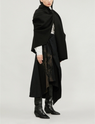 Draped Wool Coat by Aganovich