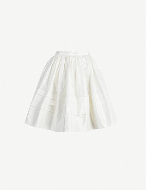 NABIL NAYAL Bow silk-taffeta skirt