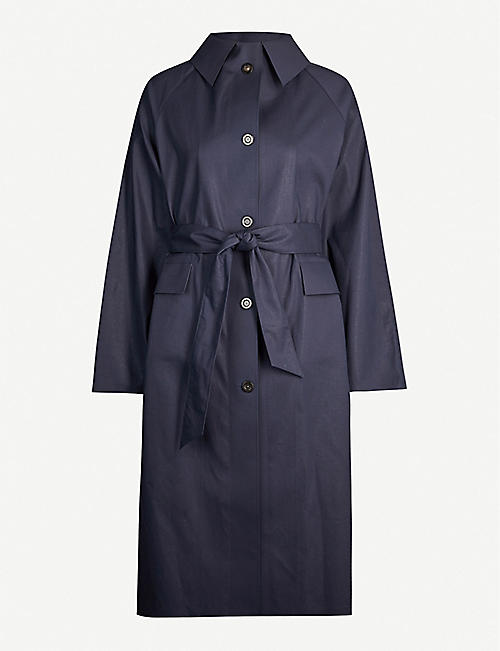 KASSL EDITIONS Belted cotton-blend trench coat
