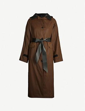 KASSL EDITIONS Hooded belted cotton coat