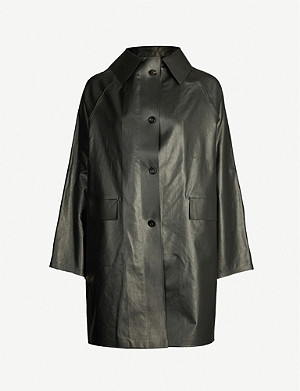 KASSL EDITIONS Coated cotton-blend coat
