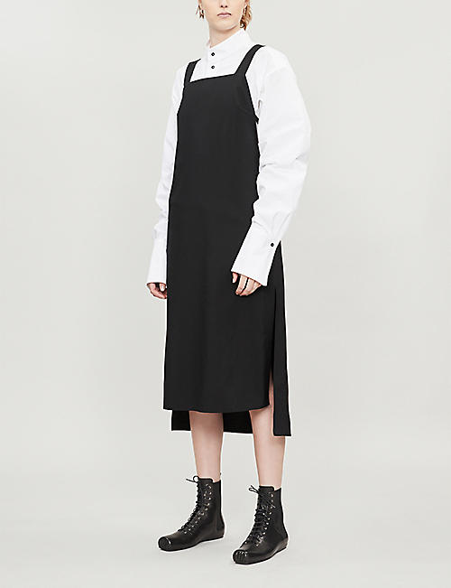 DANIEL POLLITT Strap-tie wool dress