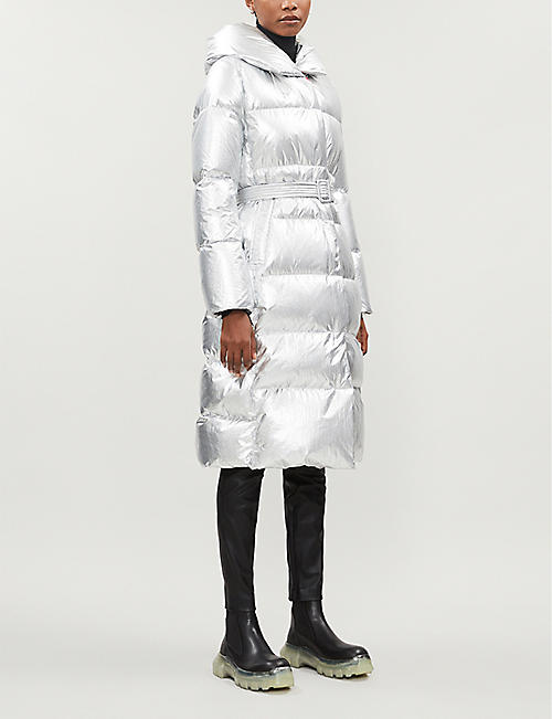 NICOLE BENISTI Dizin metallic padded shell-down coat