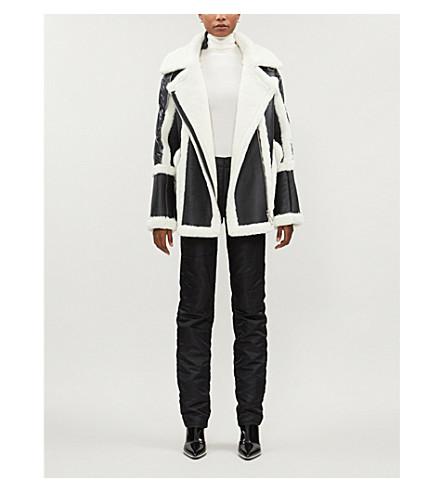 Nicole Benisti Coats Montaigne metallic shearling and shell-down coat