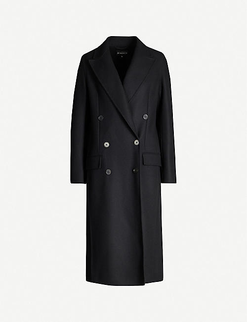 ANN DEMEULEMEESTER Cappotto double-breasted wool-blend coat