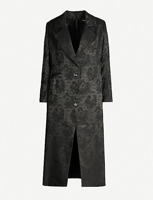 ANN DEMEULEMEESTER Tree-pattern brocade coat