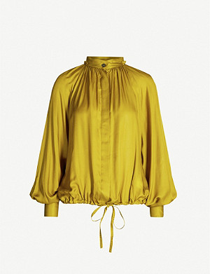 ANN DEMEULEMEESTER Nanette gathered satin shirt