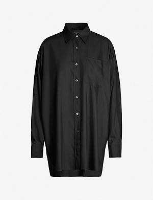 ANN DEMEULEMEESTER Oversized wool and silk-blend shirt