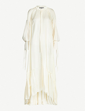 ANN DEMEULEMEESTER Nanette gathered rayon and silk-blend maxi dress