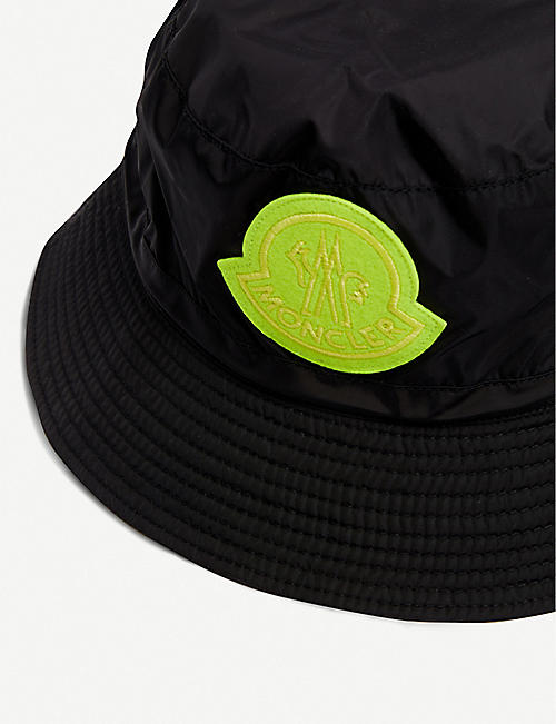 MONCLER GENIUS Logo-embroidered shell bucket hat