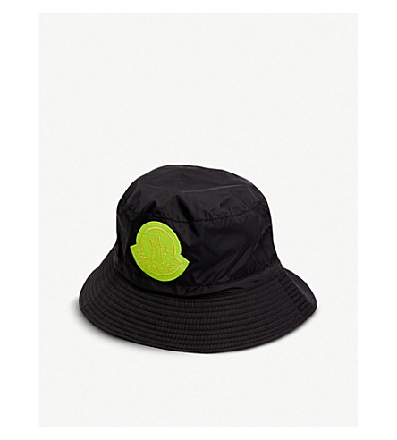 MONCLER GENIUS - Logo-embroidered shell bucket hat ...