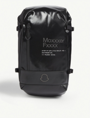 MONCLER GENIUS X Fragment patent nylon backpack