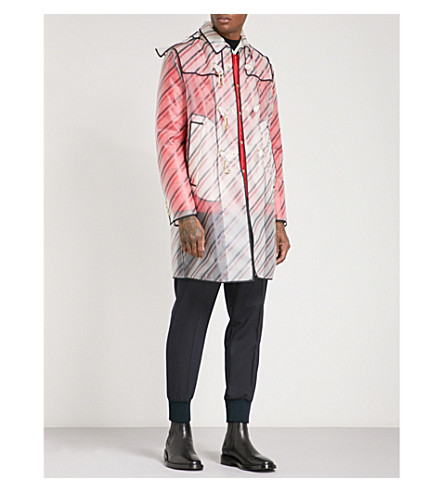 Moncler Gamme Bleu  Shell-down lined hooded PVC jacket