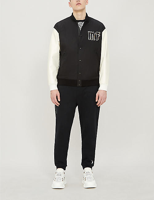 MONCLER GENIUS Moncler 7 logo-appliquéd twill and leather bomber jacket