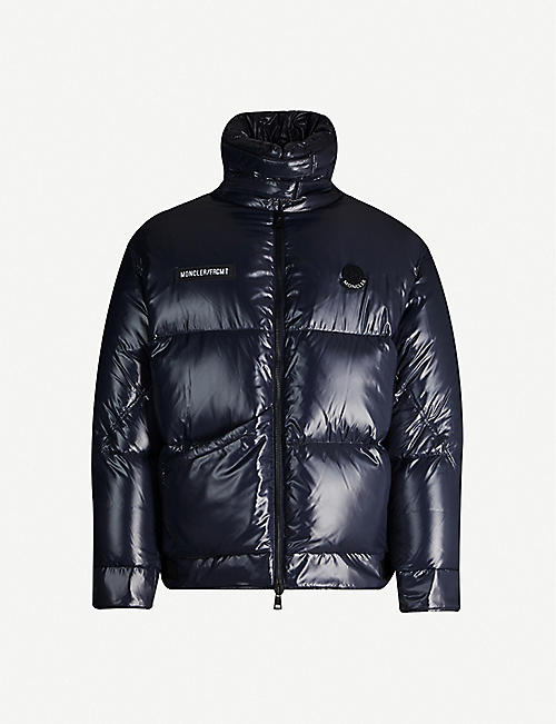 MONCLER GENIUS Viggen funnel-neck shell-down jacket