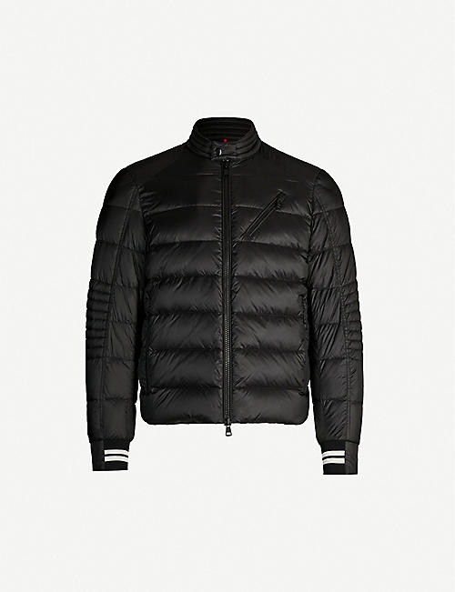 MONCLER Brel high-neck brand-patch nylon jacket