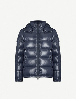 beec77577 Gloss-finish quilted shell jacket