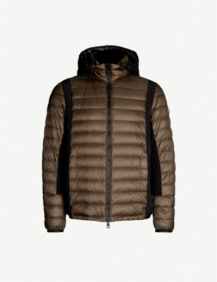 MONCLER Contrast-panel shell jacket