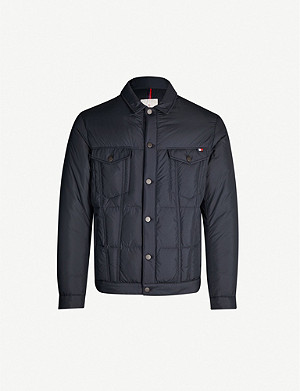 MONCLER Dubas shell and down-blend jacket