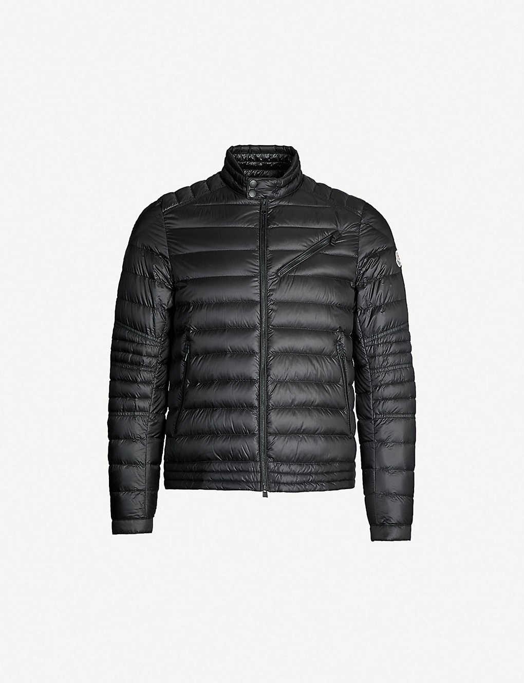 00d043e4d MONCLER - Royat quilted shell-down biker jacket   Selfridges.com
