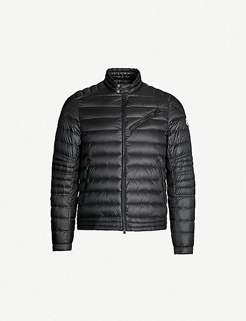 b3e5323ecab9 MONCLER Royat quilted shell-down biker jacket
