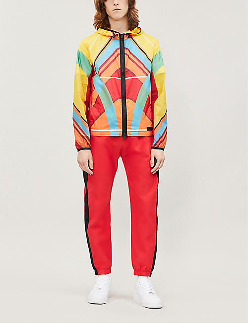 MONCLER Colour-block abstract-print shell jacket