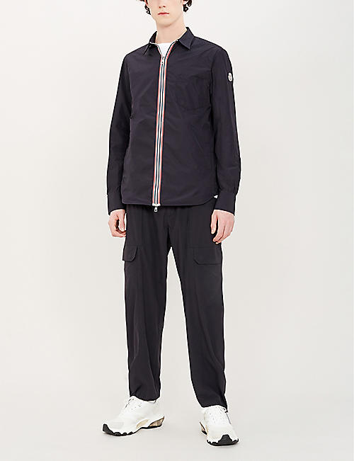 MONCLER Collared zipped shell overcoat